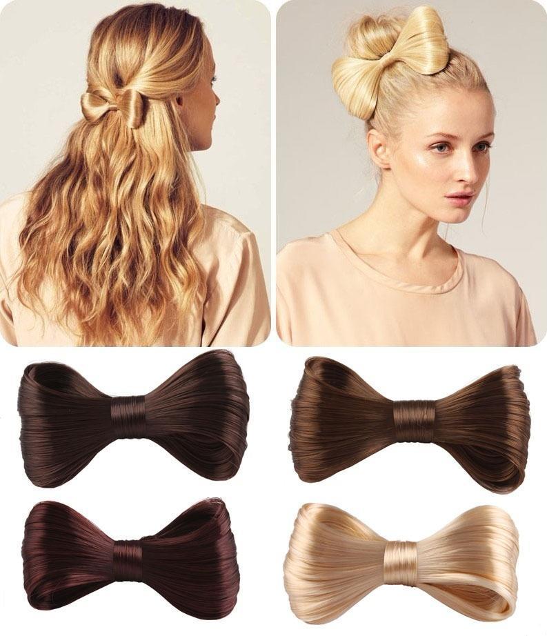 Новая мода большой галстуки парик заколка волос лук клипы женщин девочек Аксессуары для волос SL галстуки