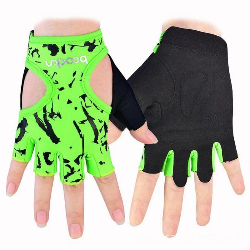 Фитнес перчатки женщины цветочные йоги тяжелой атлетике Перчатки Половина Finger перчатки перчатки stella перчатки