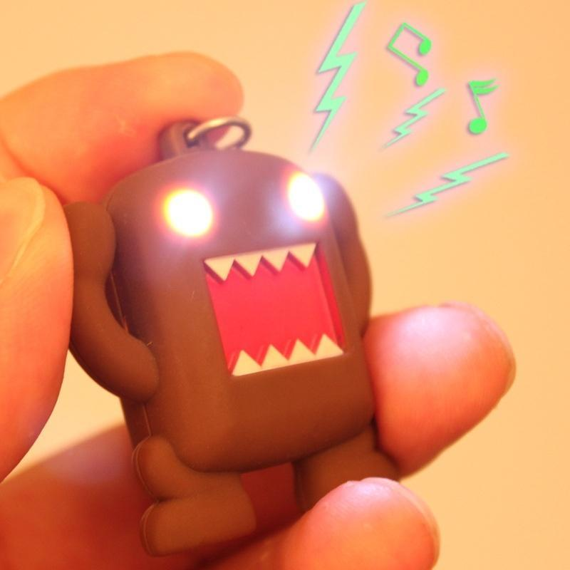 Domo kun аниме брелок светодиодный световой звук SL мягкая игрушка domo kun
