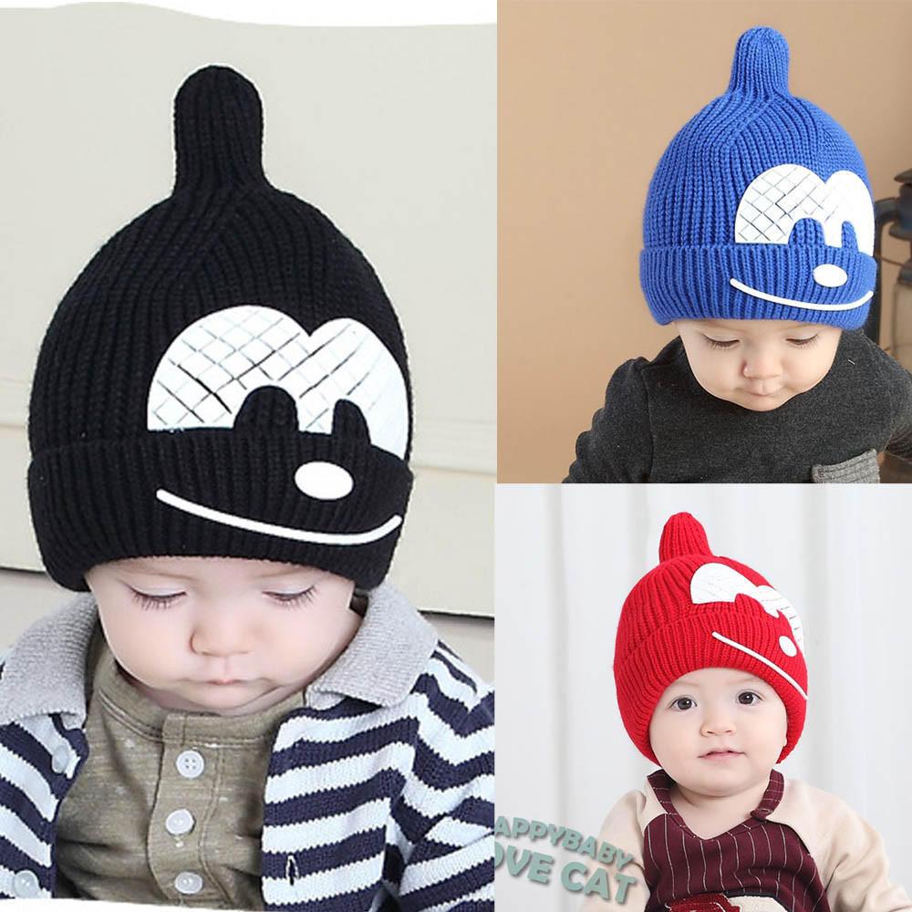 Baby детский зимний вязание крючком наушник теплая шапка