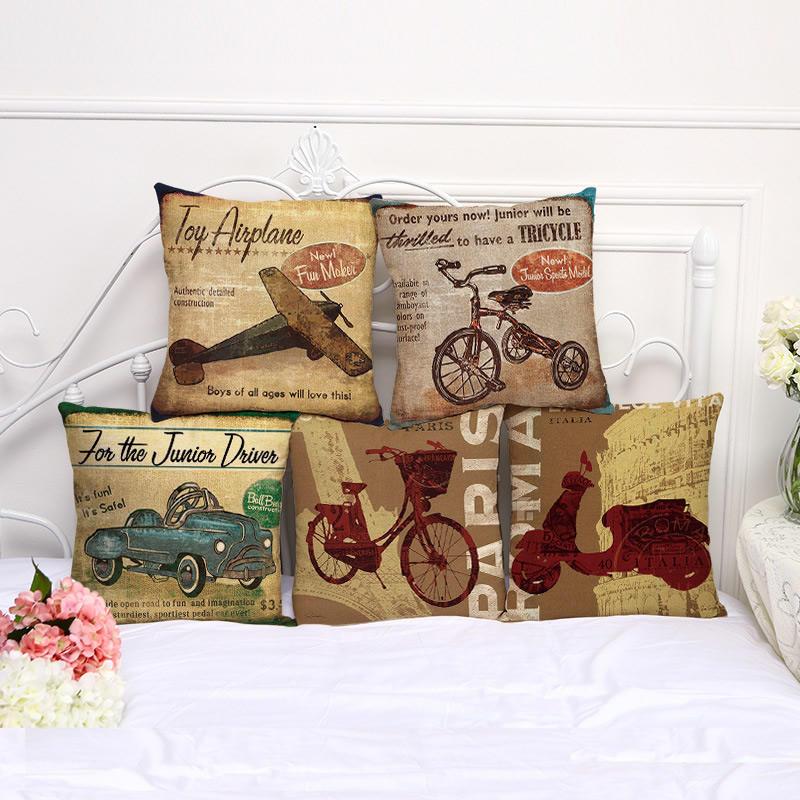 Хлопок Подушка случае дом декор диван автомобиль декоративные Квадратные подушки крышки велосипед ортопедическая подушка в автомобиль в кировограде