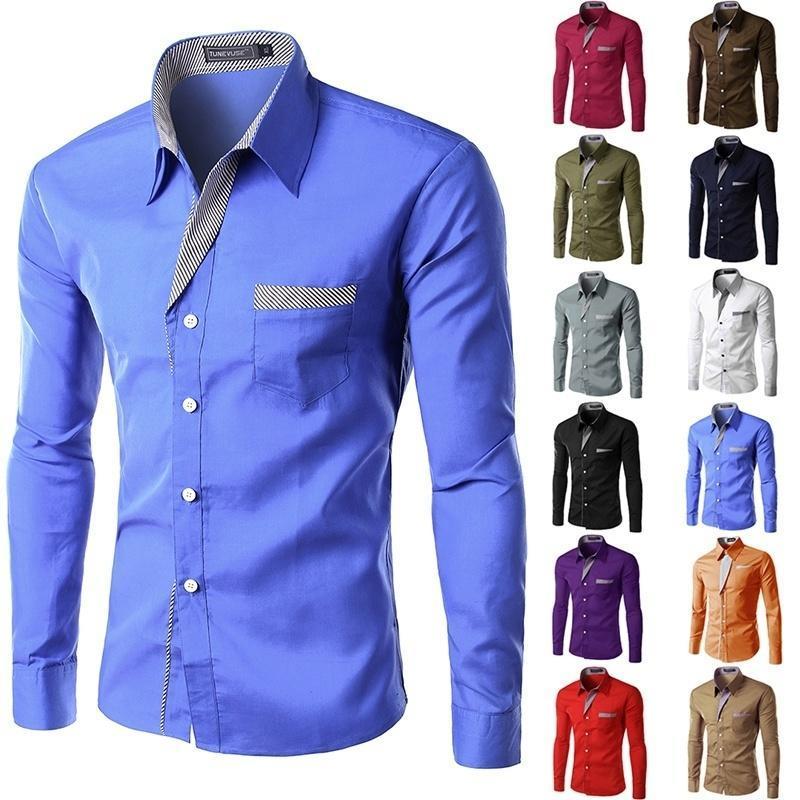 new dress fashion quality long sleeve shirt men