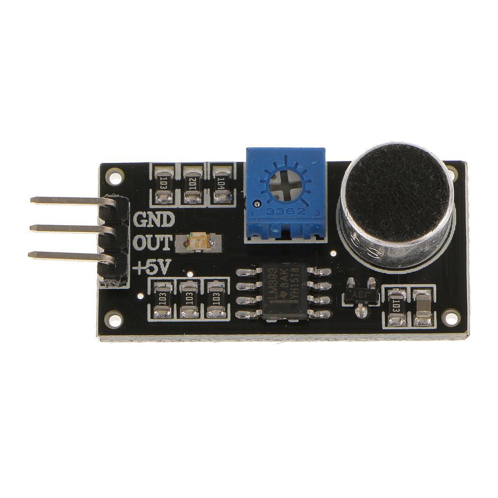 LM393 Звуковой модуль обнаружения детектор голосовой датчик тестером PCBA для Arduino lm393 sop8