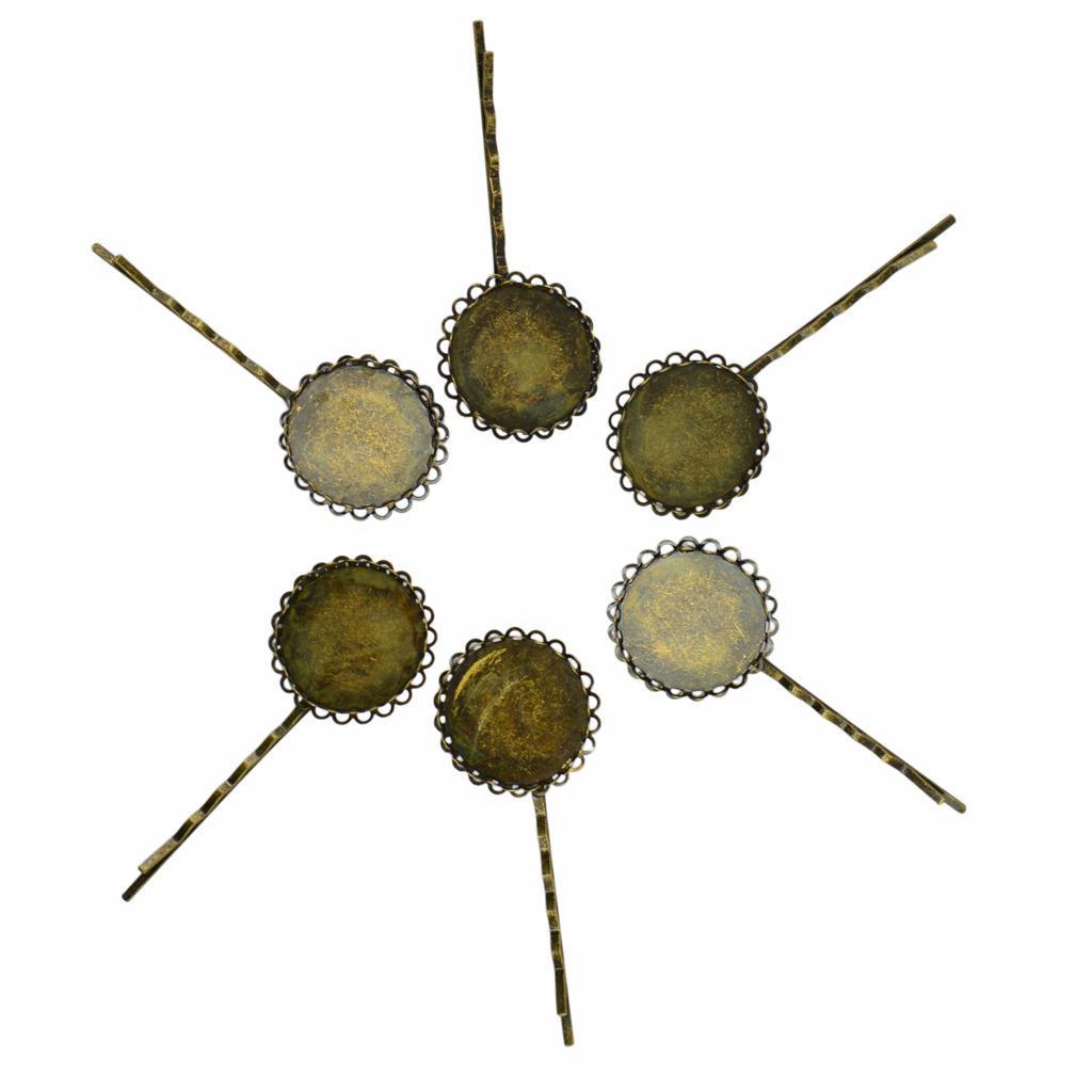 6 фото волос ролик Бобби меди для волос старинные бронзовые ювелирных изделий 25 мм