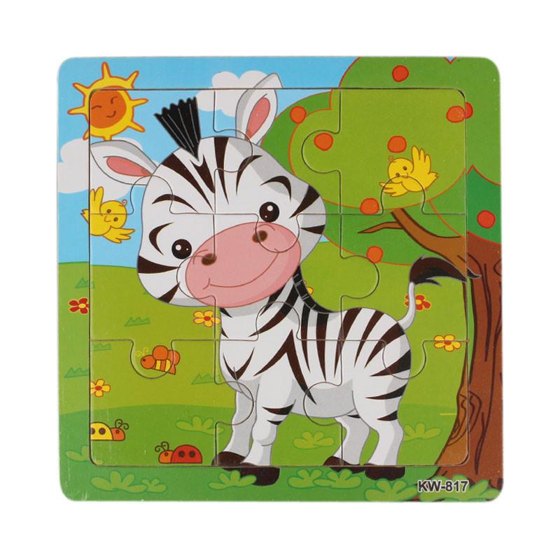 Деревянные Зебра головоломки игрушки для детей образования и обучения, головоломки игрушки игрушки для детей
