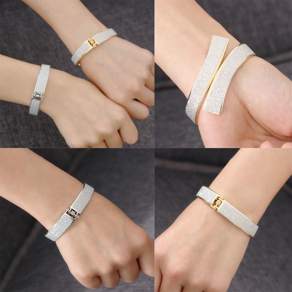 Золото серебро кожа браслет манжеты Браслеты бижутерия Открытый браслет