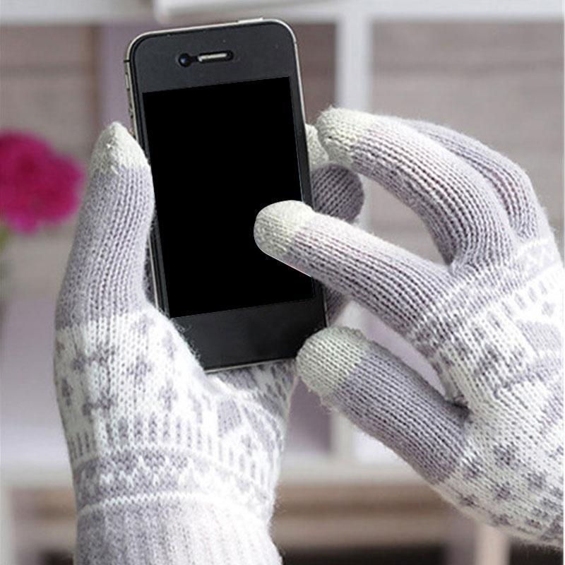 Скидка! мода унисекс Вязаные перчатки Хлопок сенсорный экран перчатки толстые бархатную накладки скидка