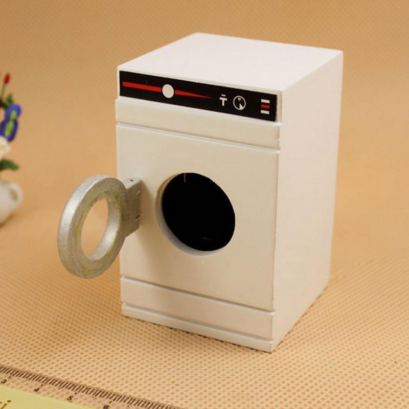 1:12 dollhouse миниатюрная Стиральная машина стиральная машина белый классический вид играть мебе... стиральная машина вятка автомат где