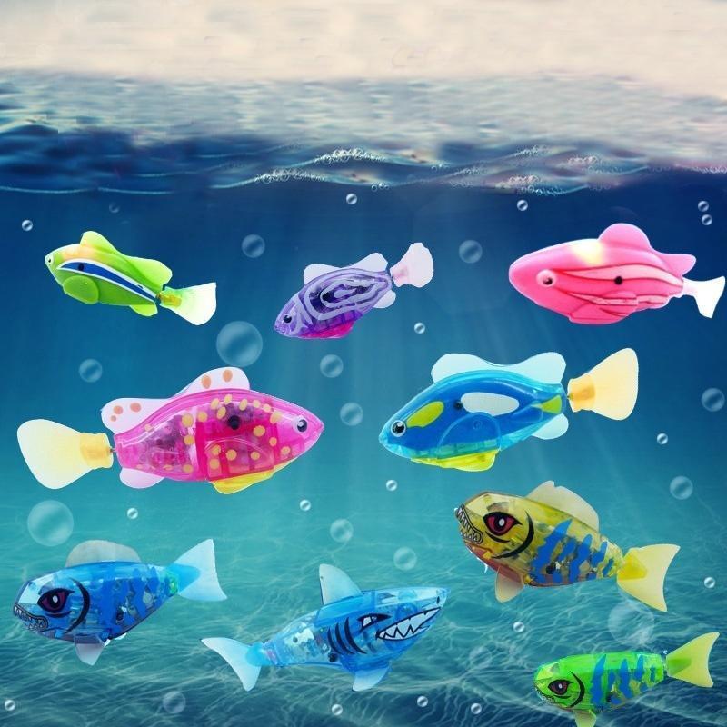 Очаровательные дети рыбы электрические животное игрушки плавать рыбы для детей игрушки игрушки для детей