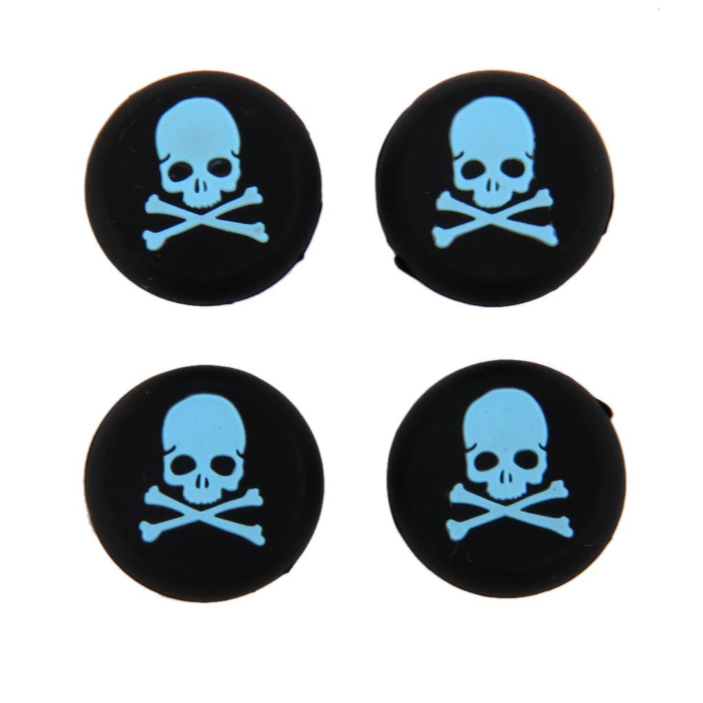 4 x Голубой череп джойстик джойстик колпачки для Sony PlayStation PS4 контроллер ivy queen for sony playstation 4 ps4 ps3 controller alu aluminium bullet aktions buttons tasten gun triangle circle square x