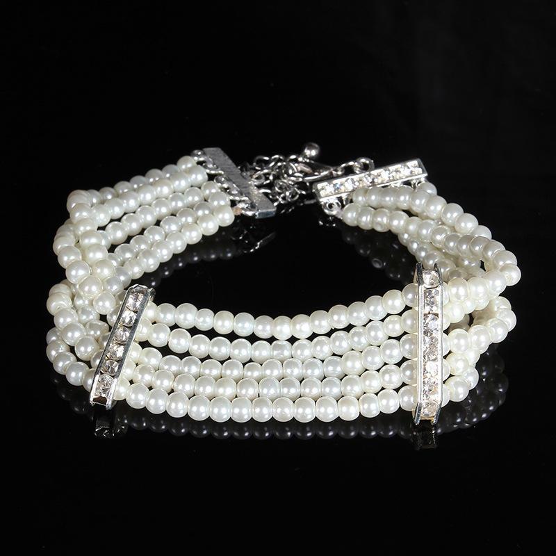 Искусственный жемчуг браслет кристалл браслет Стретч браслет Люкс ювелирные изделия