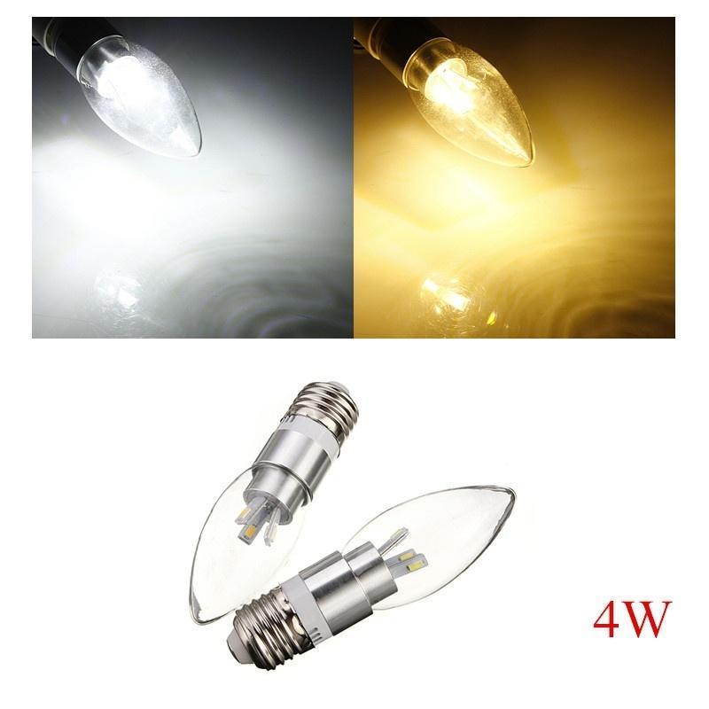E27 4W AC 110-240В 6 SMD 5630 белый/теплый белый Светодиодная лампа свеча светодиодная лампа no name 59 smd e27 230v 6 5w