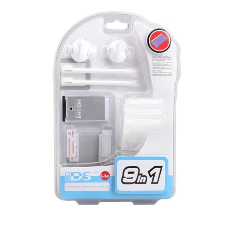 9 в 1 поездки комплект набор основных потребностей аксессуар Pack для Nintendo NDSL NDS Lite replacement stylus for nds lite 2 pack green