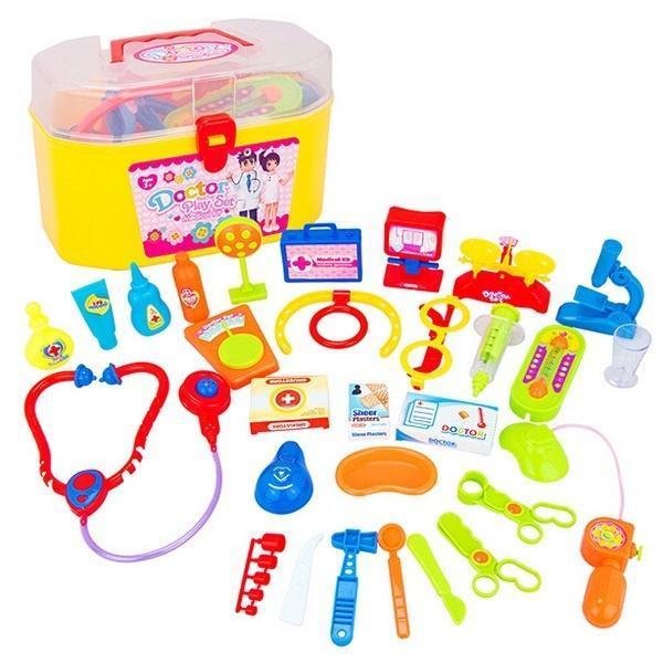 1 набор Baby доктор медсестра медицинского роль играть игрушка с нести случае Kit образования обу... набор крем uriage baby travel kit набор