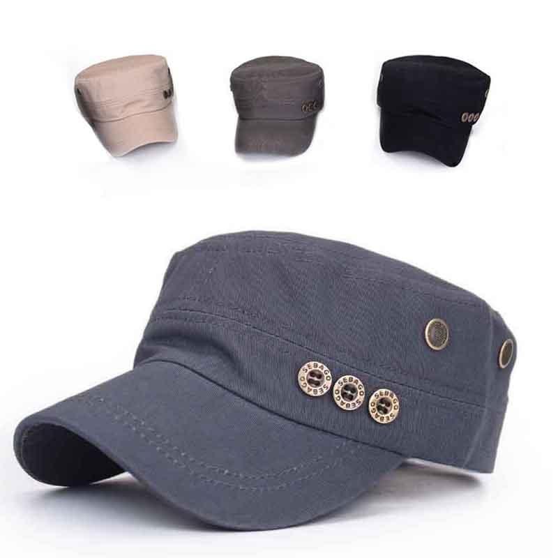 Мужчины женщины классический армии равнина Vintage Hat кадет военные регулируемые Бейсболка багажник на опель кадет 1991г выпуска