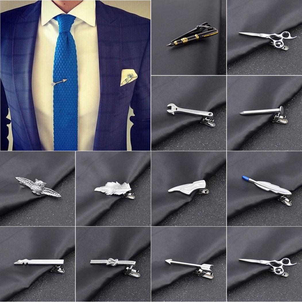Мужчины-Шарм сплава заколка для галстука узкий галстук контактный зажим Stickpin бизнес свадьбы