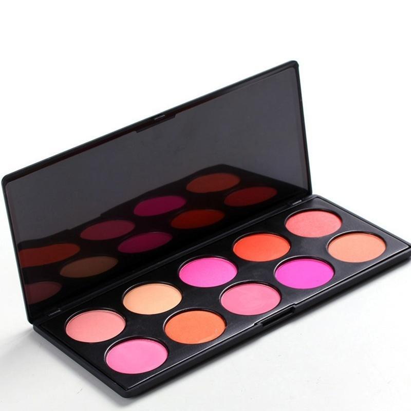 Скидка! Продажа! 10 цветов макияжа косметическая пудра румяна румяна палитра скидка