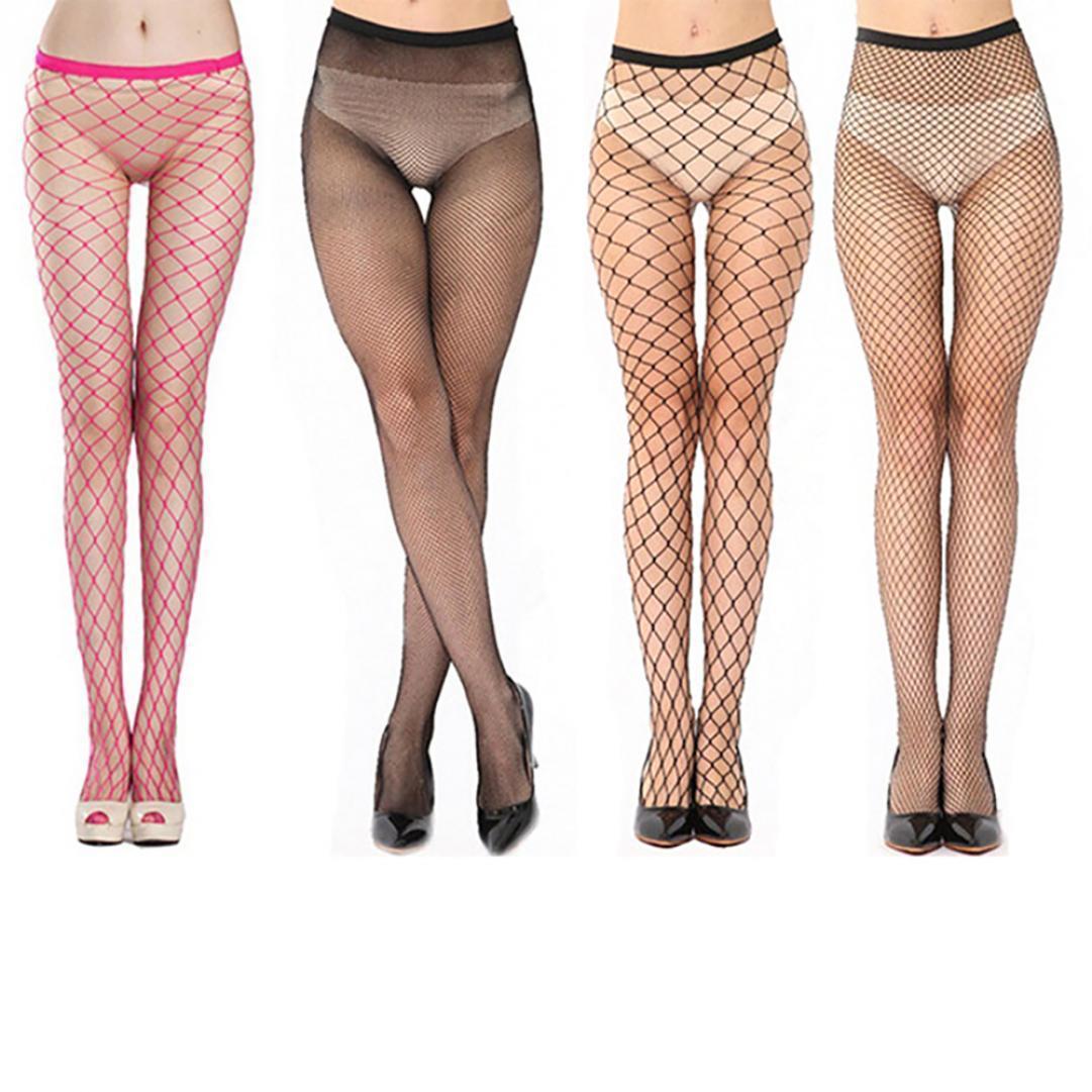 Мода женщин полые сексуальные ажурные колготки Колготки панк-эластичные чулки