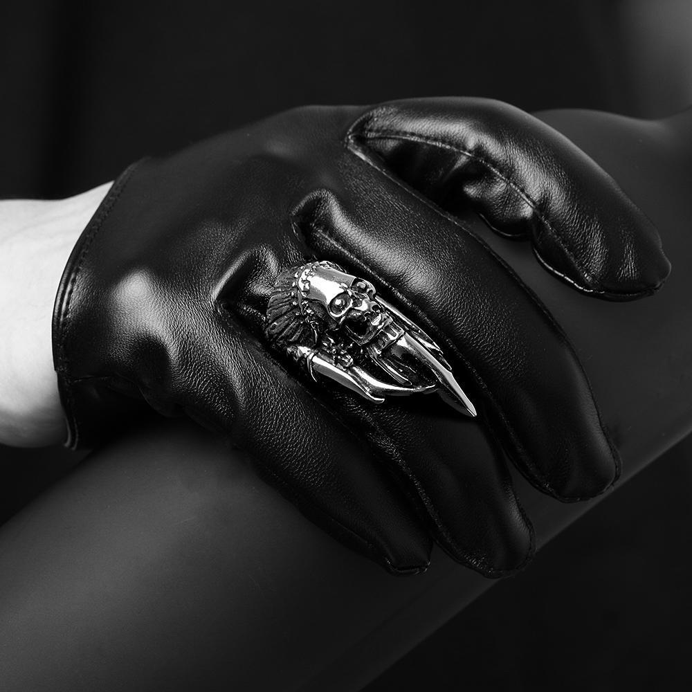 Стильная уникальные ретро звезды Знаменитости Мужчины стили Череп кольцо знаменитости в челябинске