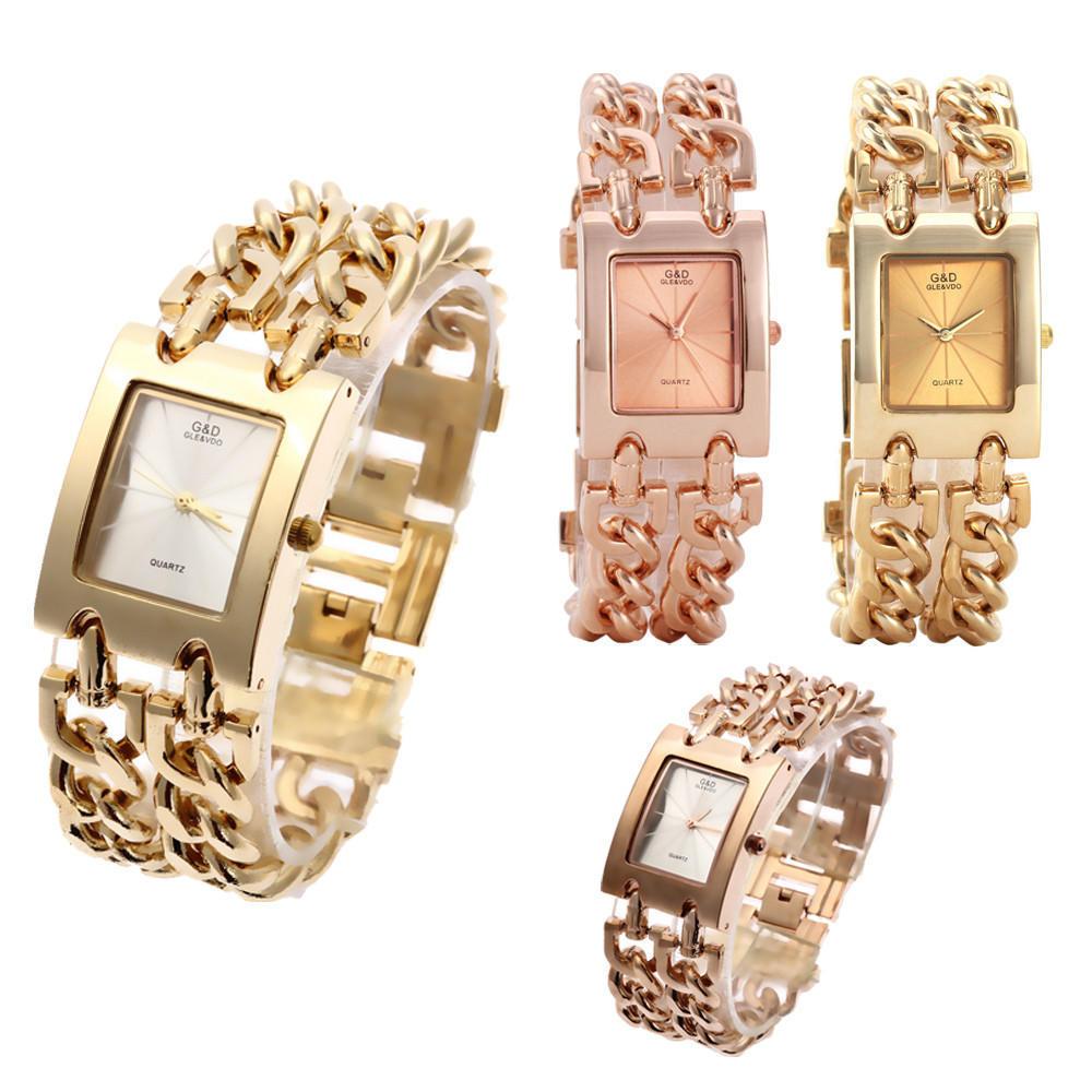 Женщины наручные часы кварцевые часы роскошные золотые часы платье Relojes Дамы Подарки