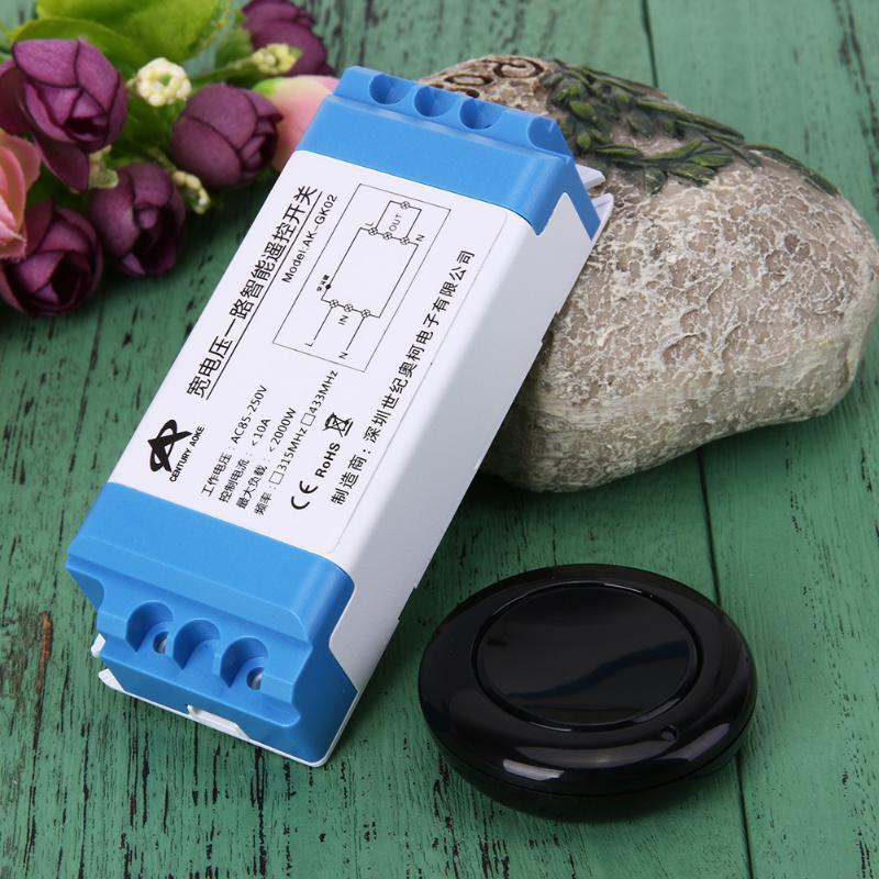 Широкий напряжения 85V-250V одного беспроводного пульта дистанционного управления переключатель пакетный переключатель кпэ 250 новороссийск
