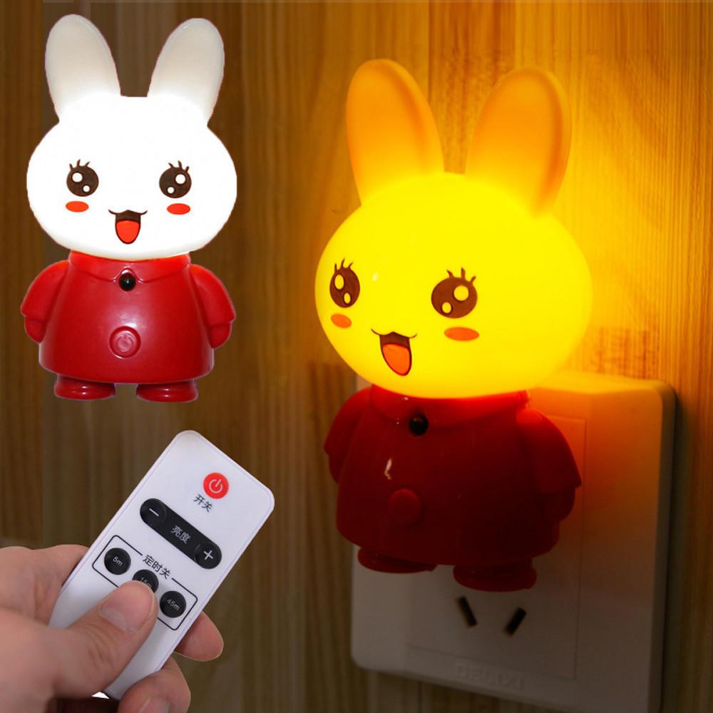 Удаленный кролик привело ночь света прикроватные лампы