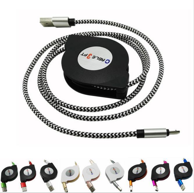 V8 Micro USB в USB Втягивающийся кабель данных синхронизация 2A зарядный кабель шнур хороший элемент orico mtf 10 micro usb зарядный кабель