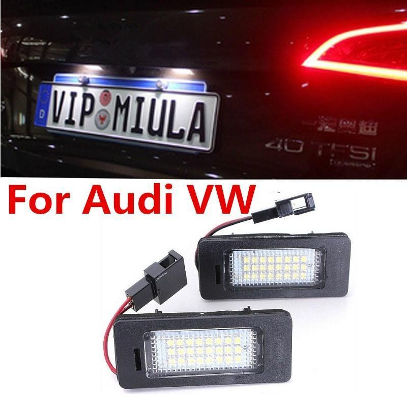 1 пара 24 SMD LED белый лицензия номер пластины света лампа для Audi A4 A5 Q5 S5 TT 2008-2013 для... доска для объявлений dz j1a 169 led led jndx 1 s a