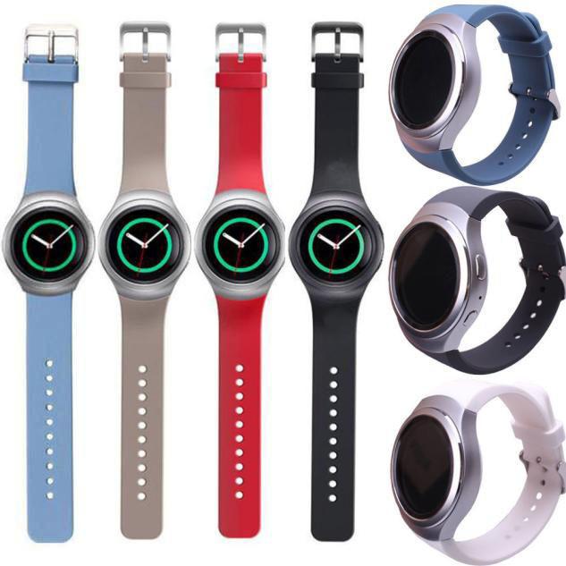 цена на Силиконовые часы группа ремешок для Samsung Galaxy S2 Gear SM-R720