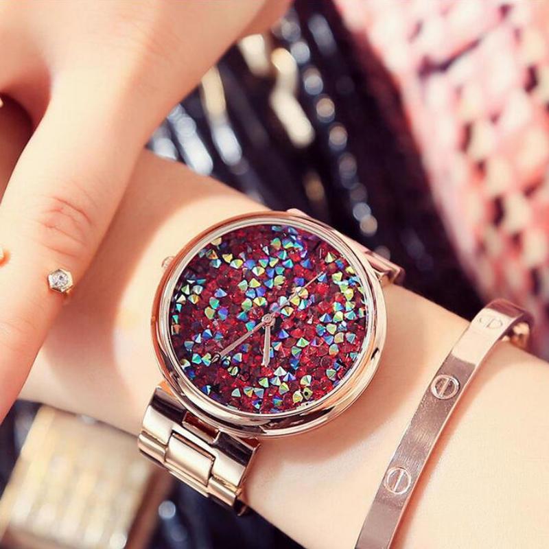 Алмазный часы роскошь блестящий алмаз смотреть дамы часы Часы Дамы золотые часы