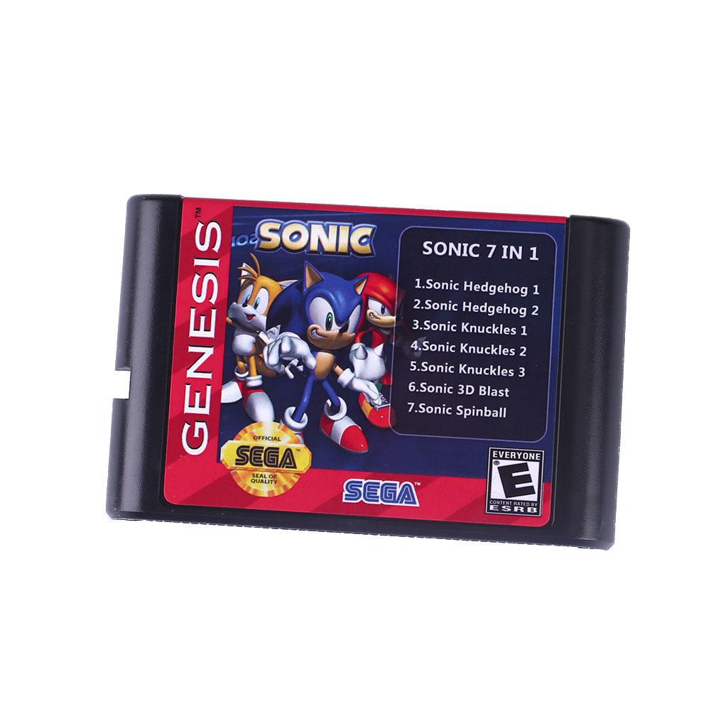 7 в 1 SEGA звуковой карты Sega для NTSC PAL MegaDrive Бытие Английский 7 в 1 sega игровая приставка megadrive 2 черная