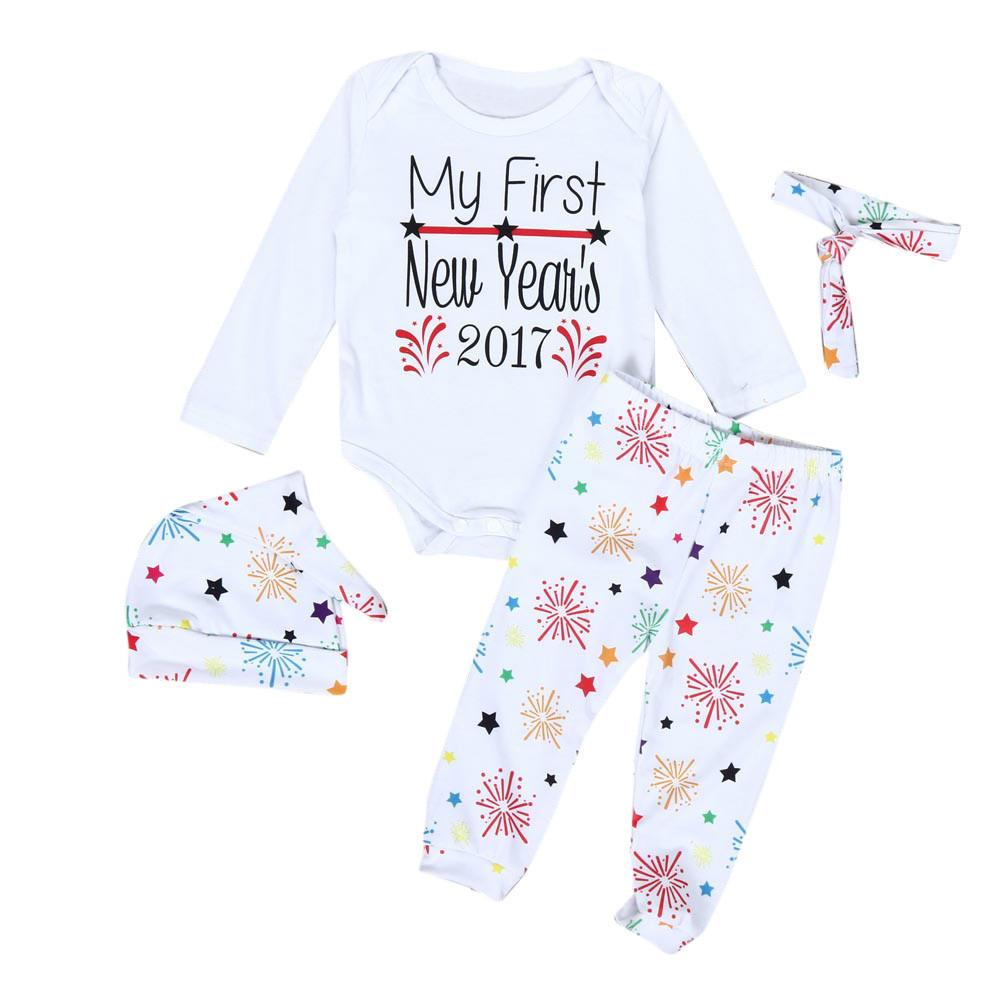 -Оптовая торговля-1Set младенческой Baby Boy девушка одежду Ромпер брюки наряды старинные леггинс...