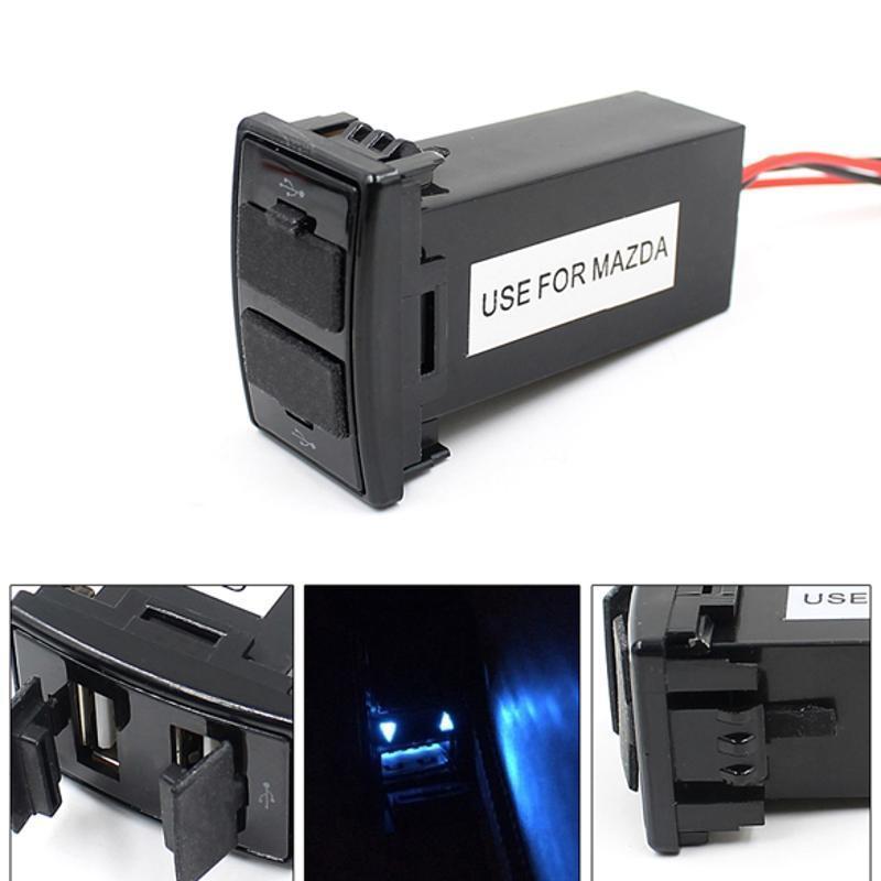 Dual USB порты приборной панели крепление быстрое зарядное устройство 5V для автомобилей MAZDA полироль для приборной панели atas plak amarena 400 мл