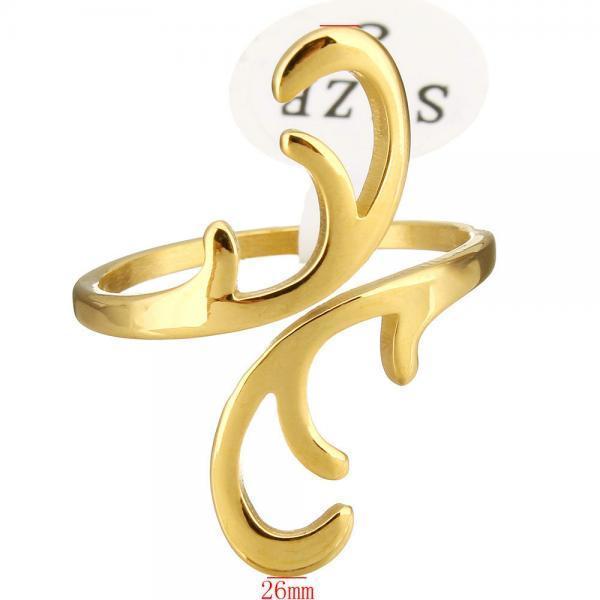 Очарование женщин золотые персиковые нержавеющей стали открытые кольца размером 8 панк ювелирный ...