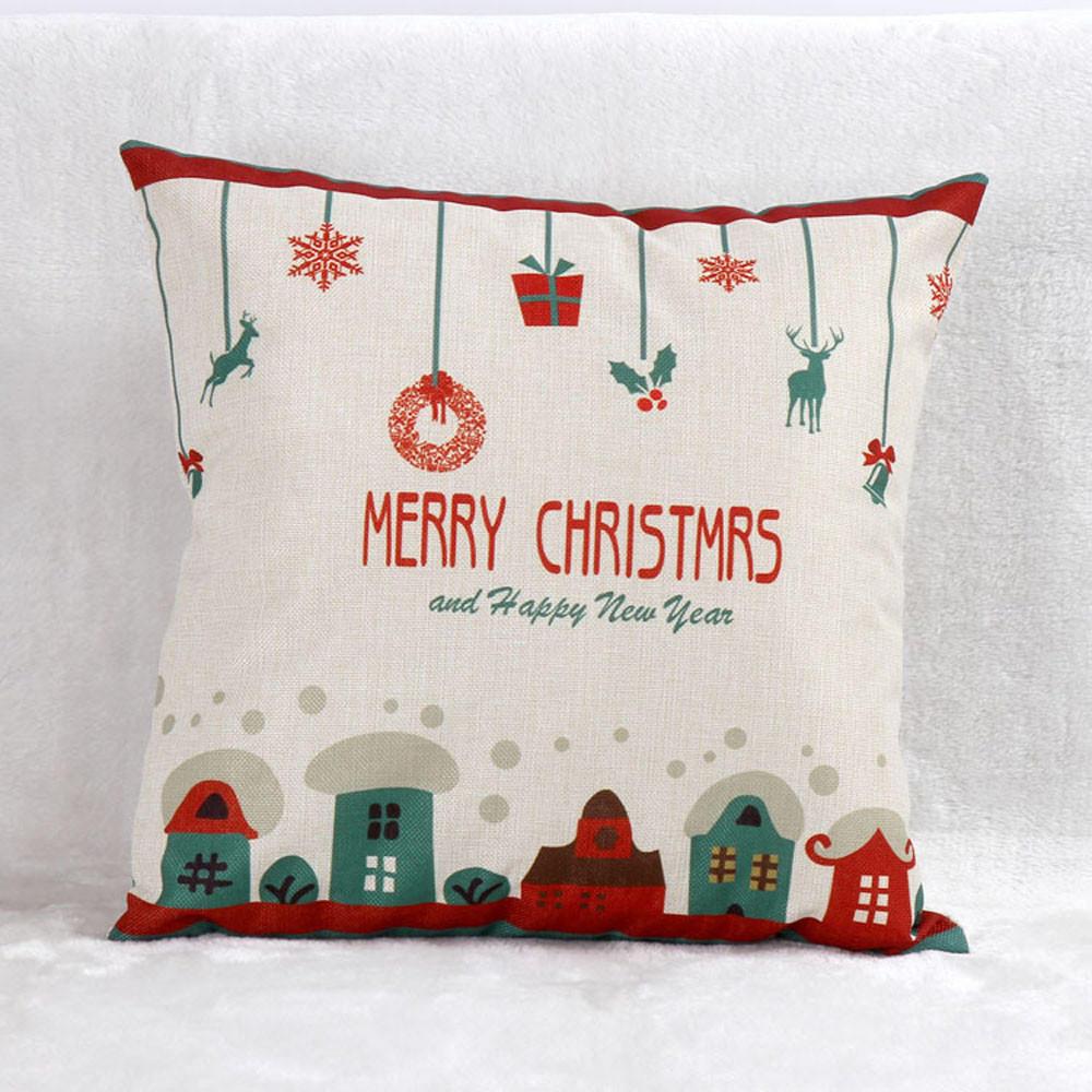 santa claus sofa bed home decor vintage pillow case cushion