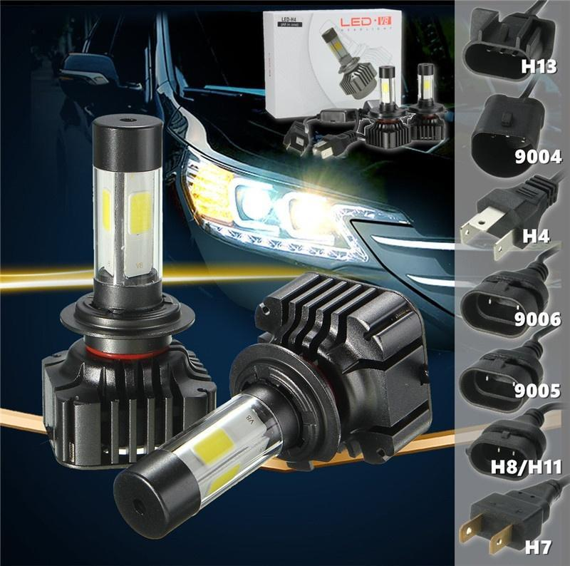 120W 6000K COB H4/H13/9004(Double Beam) H7/H11/9005/9006 автомобиль грузовик привело фар преобраз... led h4 h7 h11 h1 h10 hb3 h13 h3 9004 9005 9006 9007 cob led car headlight bulb 80w 8000lm 6000k auto headlamp 200m light range