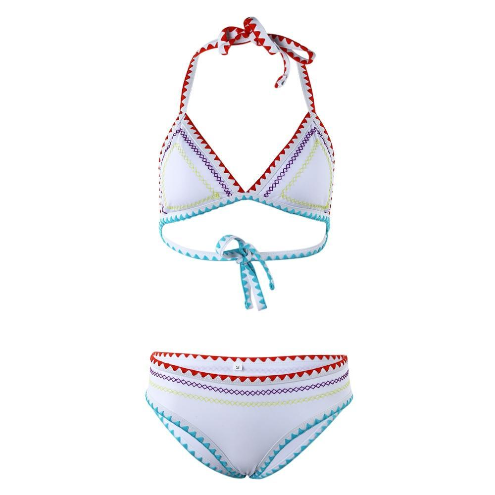 Сексуальный недоуздок шеи бикини двухсекционный костюмы костюмы