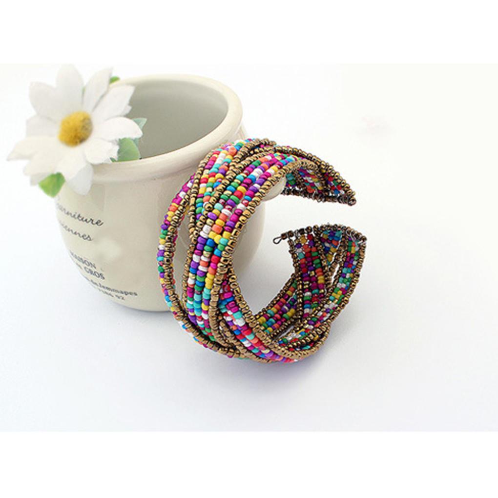 Богемия бисера браслеты плетение открытых браслеты женщин ювелирные