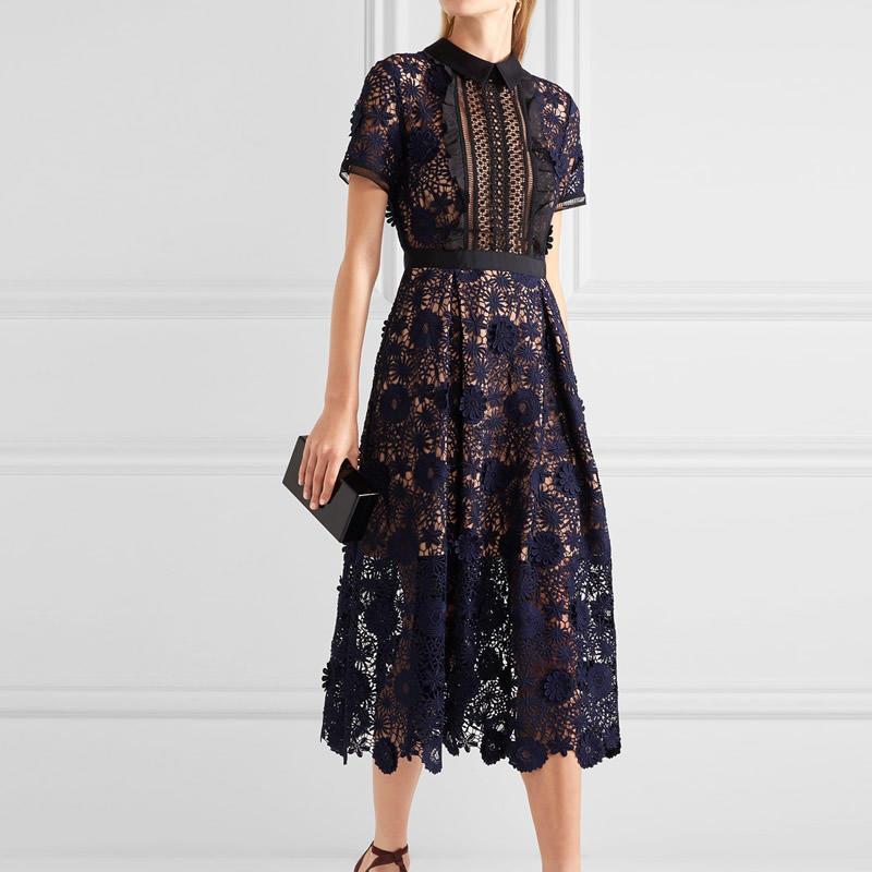 Женщины летнее платье платье полые платье платье