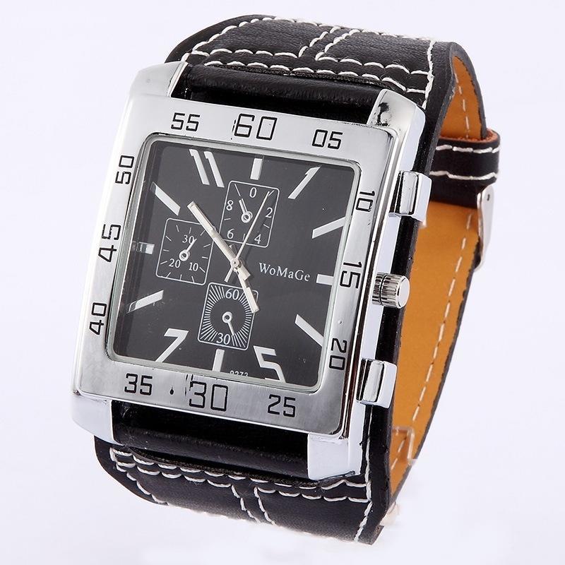 Мужской моде часы Квадратные часы мужчин смотреть SL