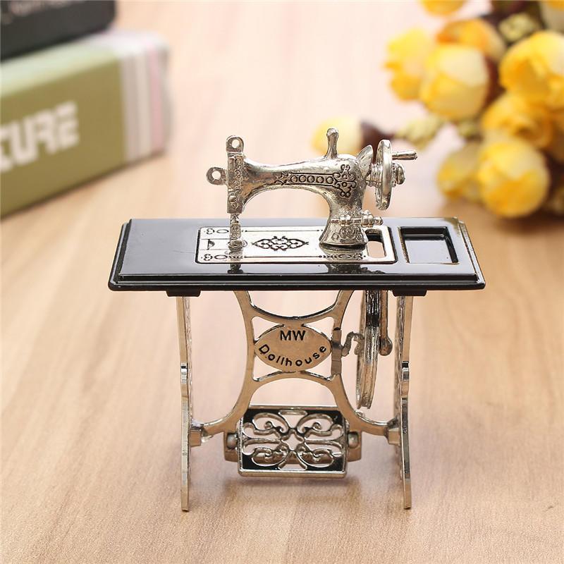 Качество темно кофе швейная машина швейные таблицы Dollhouse миниатюра швейная машина vlk napoli 2400