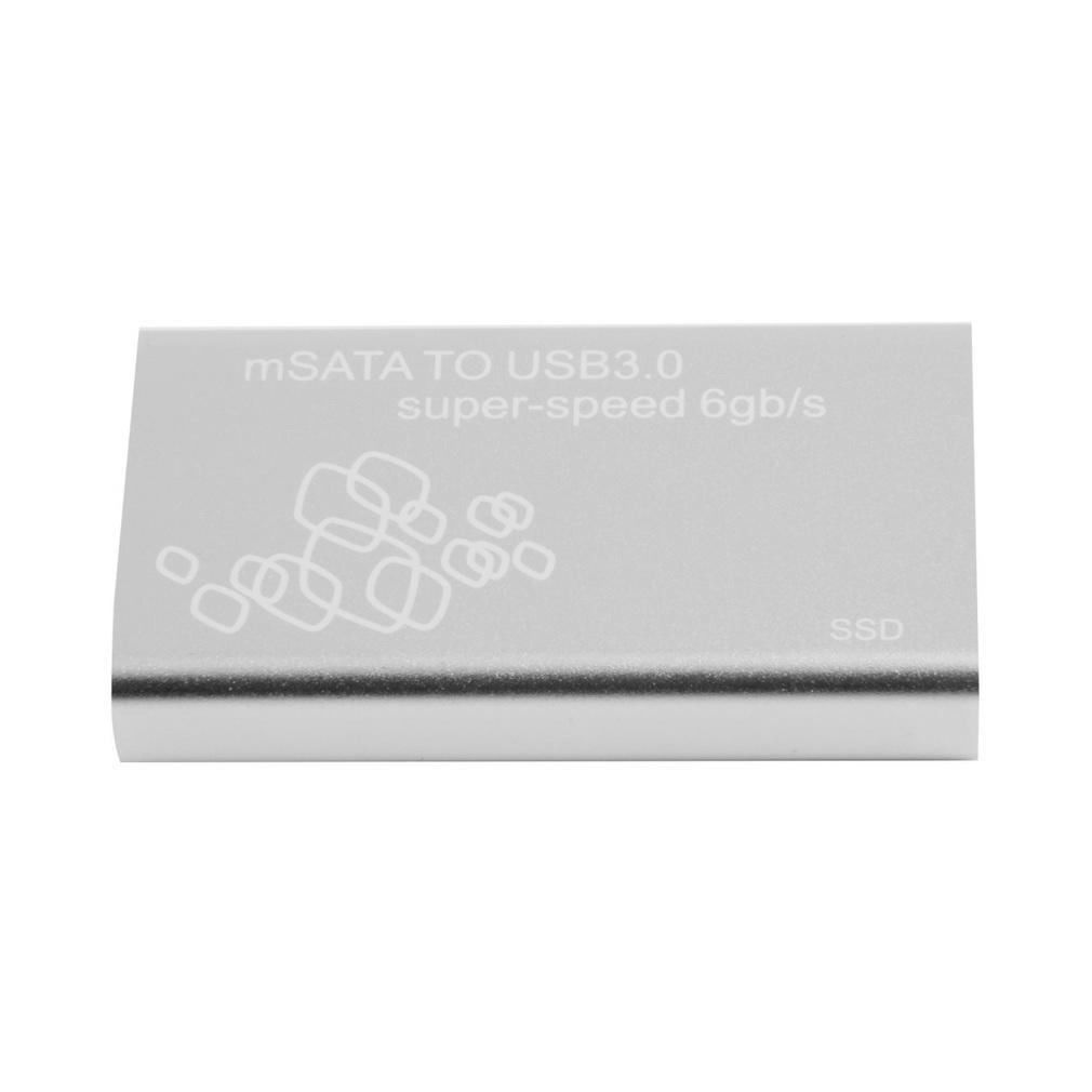 Мини-mSATA до USB 3.0 SSD жесткий диск поле Внешний корпус корпус с кабелем внешний жесткий диск lacie stet2000400 porsche design 2tb серебристый stet2000400