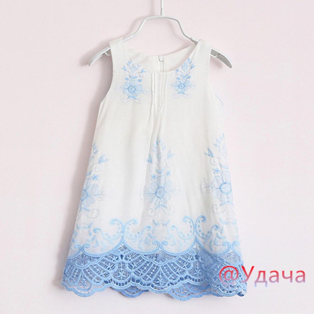 Платья детские девочек принцесса платье короткий рукав вышивка платья для девочек