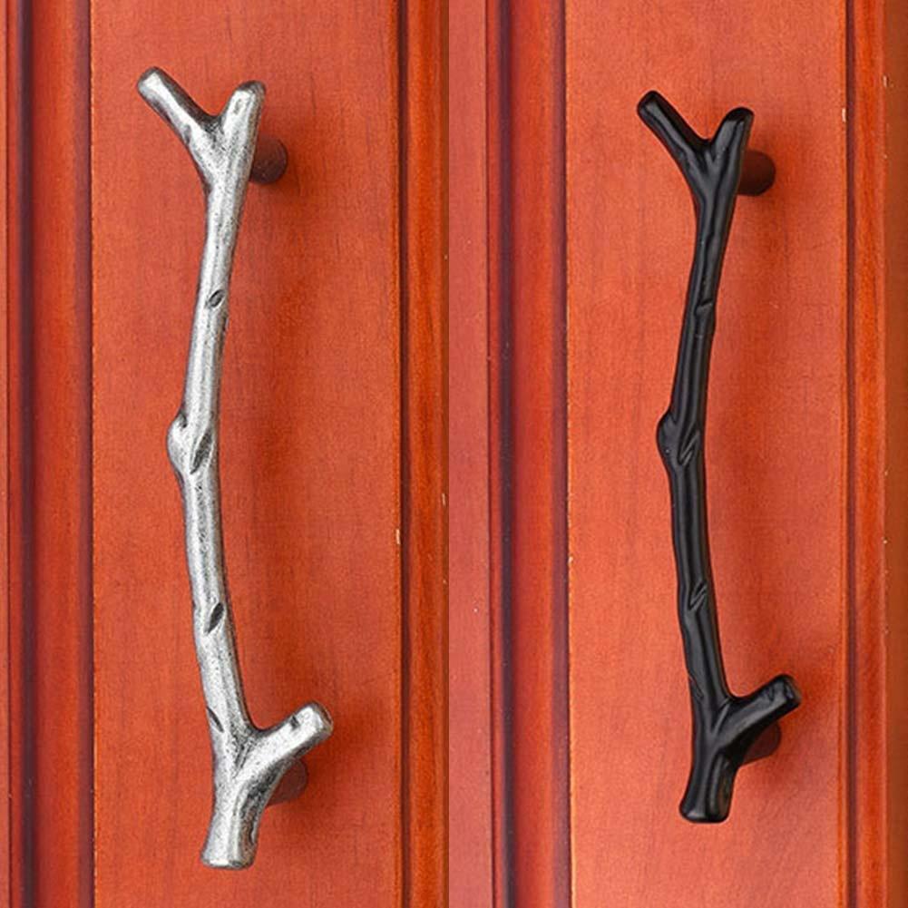 Творческий черный дерево филиал кабинета кухни шкафы шкаф ящик тянет ручки