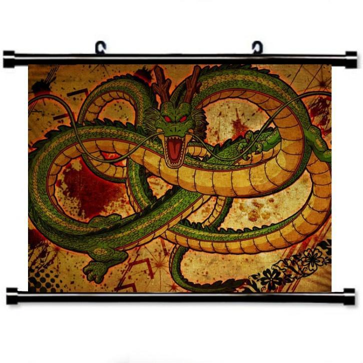 Аниме Дракон мяч прокрутки картина Дракон печатных декор стен декор для стен