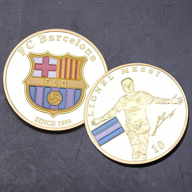 Мода Барселона футбольные звезды Месси памятные монеты памятные монеты россии выпуск 2016 г каталог справочник
