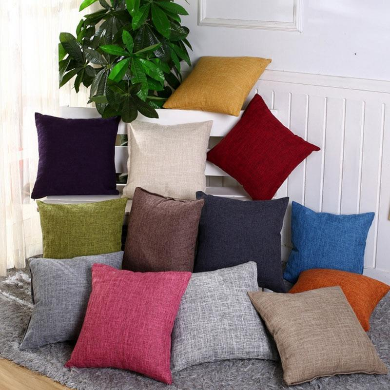 vintage cotton linen pillow case sofa waist throw cushion so