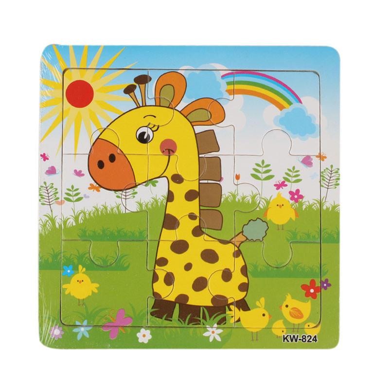 Деревянные жирафа головоломки игрушки для детей образования и обучения, головоломки игрушки игрушки для детей