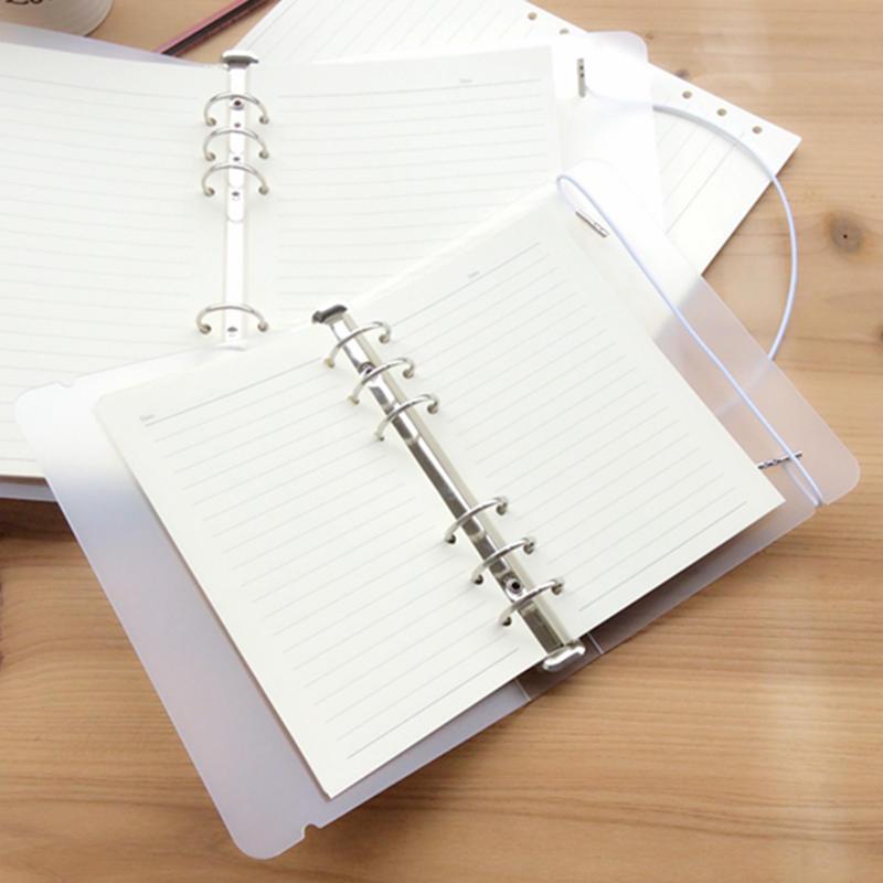 1 шт полупрозрачный PP спиралью свободные листы A5 A6 A7 матовые 6 отверстия ноутбука лагерь ноут...