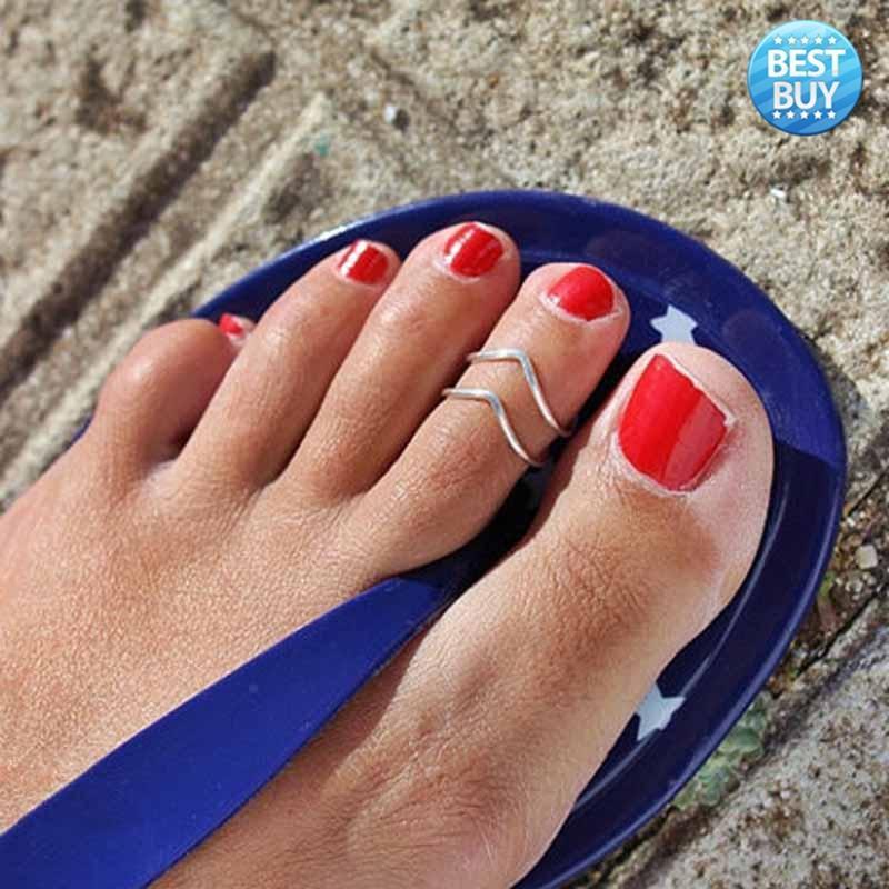 Лучшие знаменитости женщин ювелирные простые палец кольцо регулируемые ноги Beach БУДЖИ знаменитости в челябинске